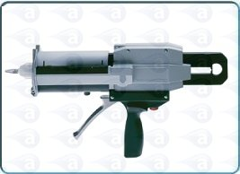 Manual cartridge gun for dual mixers