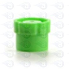 800-GREEN luer lock tip cap seal stand up