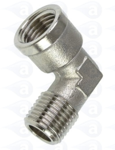 Metal elbow fitting thread